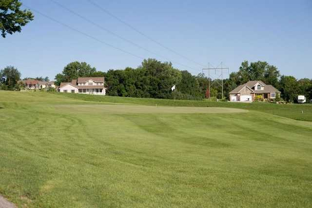 A view of green #11 at Bay Hills Golf Course