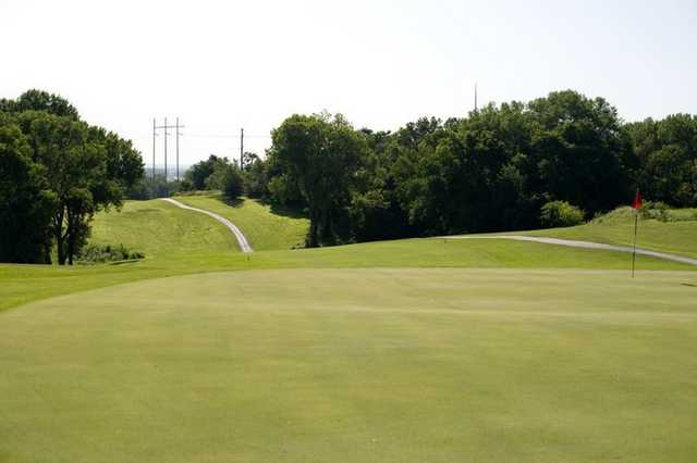 A view of the 12th hole at Bay Hills Golf Course