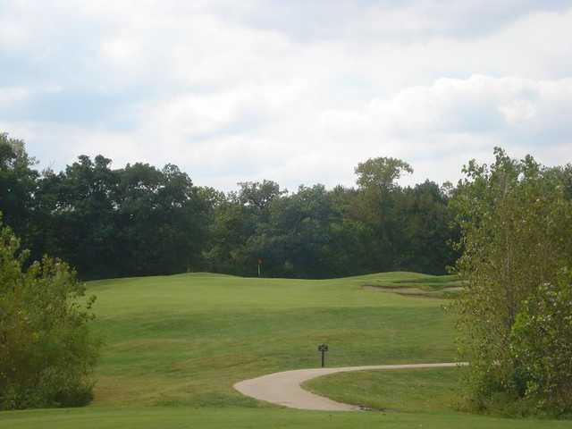 A view of hole #3 at River Course from Heart of America Golf Academy