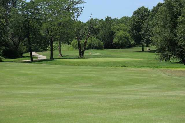 A view of the 7th green at Minor Park Golf Course