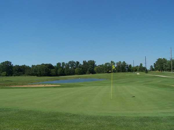 A view of the 15th green at East Course from Bridgewater Golf Club