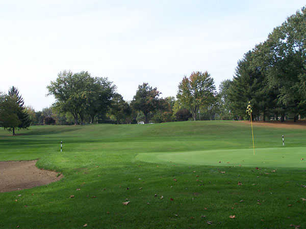 A view of the 14th hole at West Course from Bridgewater Golf Club