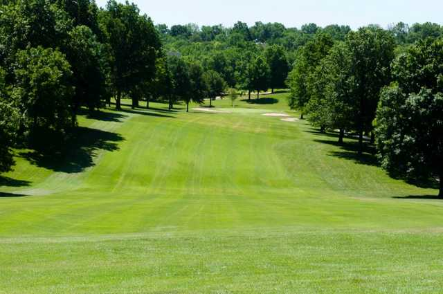 A view of fairway #4 at Oakwood Country Club