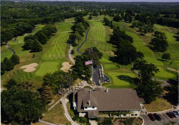 Aerial view from Swope Memorial Golf Course