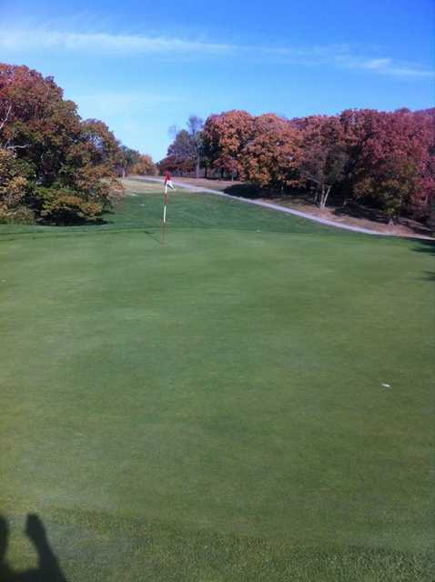A view of hole #8 at Swope Memorial Golf Course
