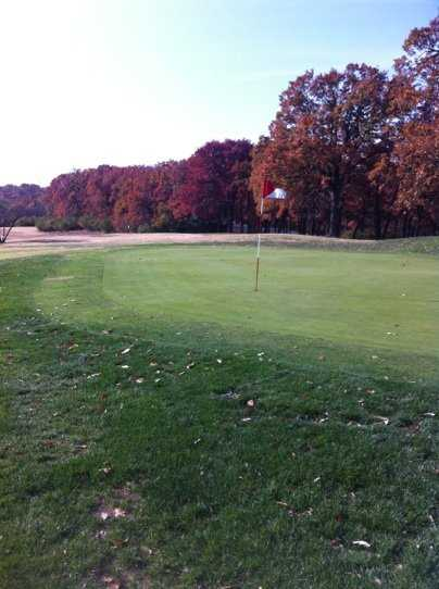 A view of the 9th green at Swope Memorial Golf Course