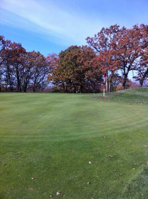 A view of green #14 at Swope Memorial Golf Course