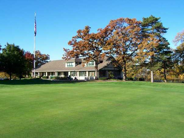 A view of the clubhouse at Swope Memorial Golf Course