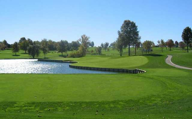 A view from a tee at Liberty Hills Golf Club