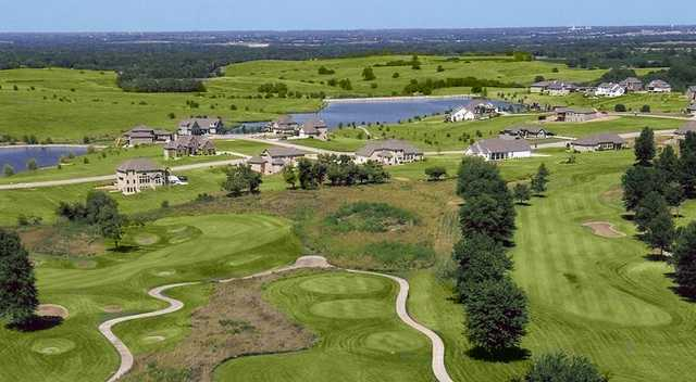 Aerial view from Liberty Hills Golf Club
