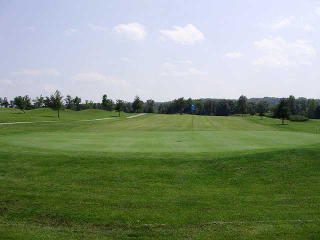 A view of the 3rd green at Meramec Lakes Golf Course
