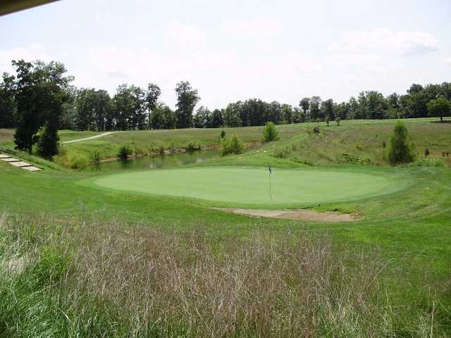 A view of green #14 at Meramec Lakes Golf Course