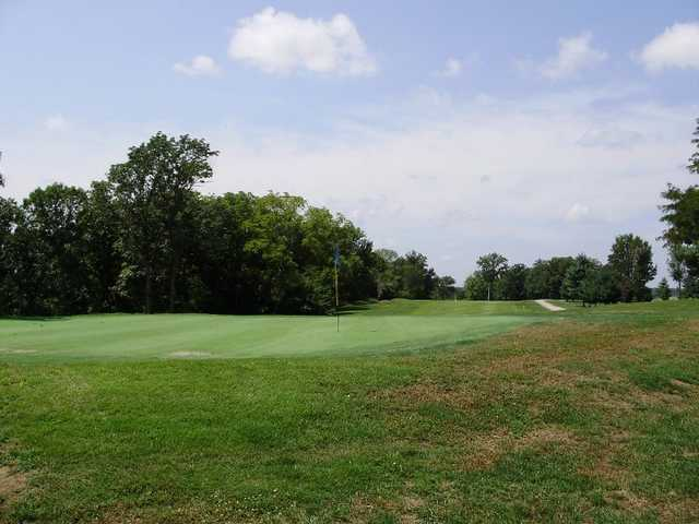 A view of hole #15 at Meramec Lakes Golf Course