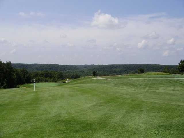A view from fairway #18 at Meramec Lakes Golf Course