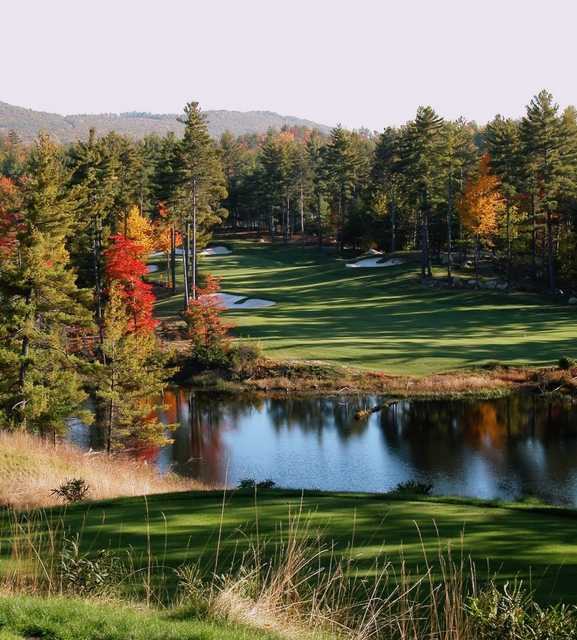 A view of the 16th hole at Lake Winnipesaukee Golf Club