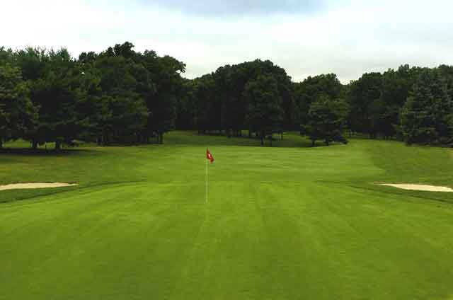 A view of the 8th hole at Cranbury Golf Club