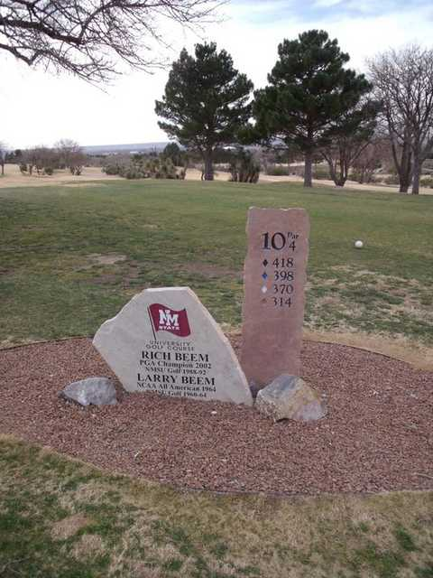 A view of tee #10 sign at New Mexico State University Golf Course