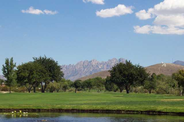 A view of hole #12 at New Mexico State University Golf Course
