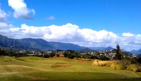 A view from tee at Bay View Golf Course