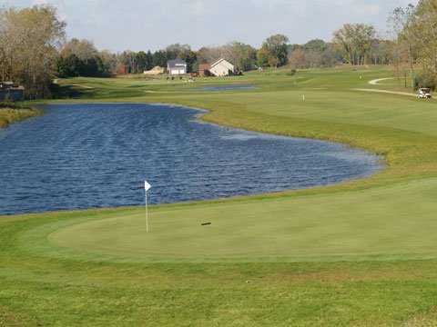 A view of green #9 at 	Buffalo Tournament Club
