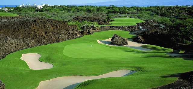 View from No. 17 on the North Course at Mauna Lani Resort