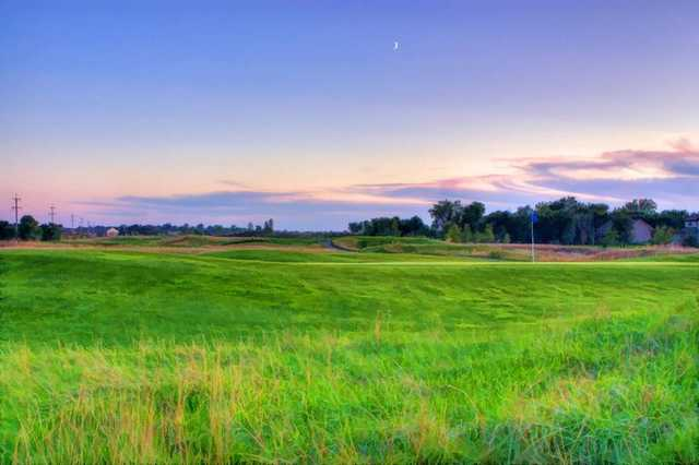 An evening view from Links at Northfork
