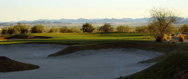 A view of bunker from fairway #2 at Founder's Course from Verrado Golf Club.