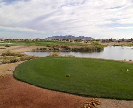 A view from a tee at Mission Royale Golf Club