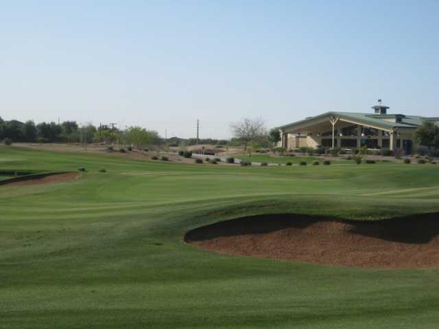 A view of the 18th hole at Bear Course from Bear Creek Golf Complex