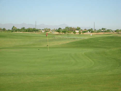 A view of the 7th green at Cub Course from Bear Creek Golf Complex