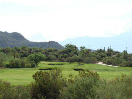 A view of the 18th hole from Highlands at Dove Mountain