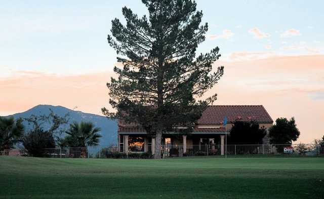 A view of the clubhouse at Kino Springs Golf Course