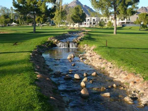 A view of the creek separating hole #1 and #18 on Adobe Course at Arizona Biltmore Golf Club