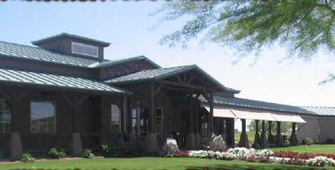 A view of the clubhouse at Johnson Ranch Golf Club