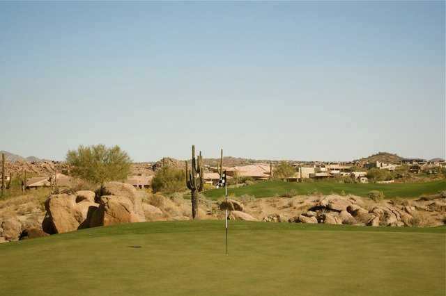 A view of hole #2 at Pinnacle Course from Troon North Golf Club