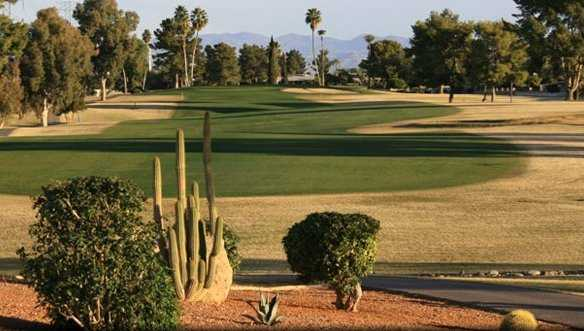 A view of a fairway at Riverview Golf Course