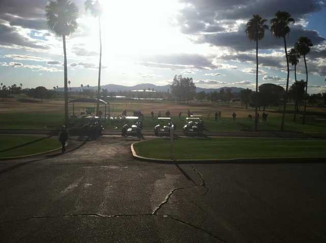 A February sunny view from Hillcrest Golf Club at Sun City West