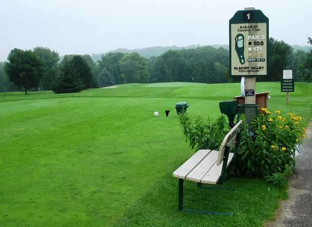 A view of the 1st tee at Baraboo Country Club