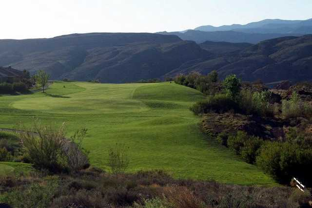 A view of the 18th fairway at Sky Mountain Golf Course