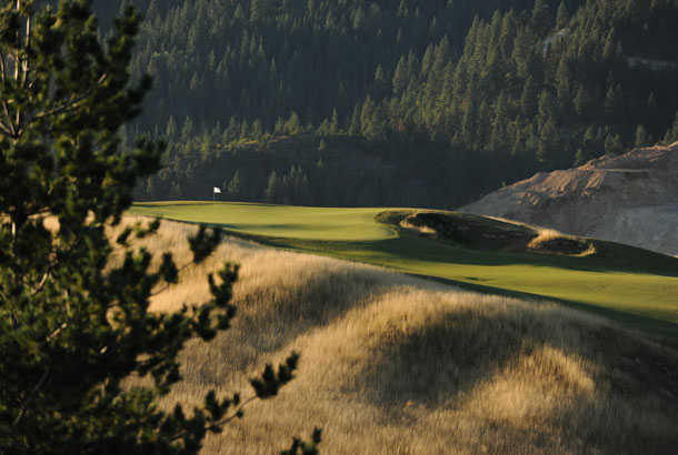 A view of the 8th hole at Galena Ridge from Silver Mountain Resort