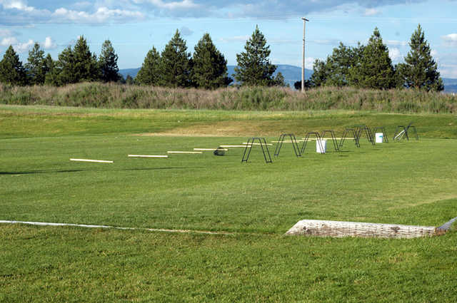 A view of the driving range tees at Links Golf Club