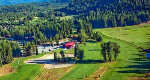 Aerial view from Priest Lake Golf Club