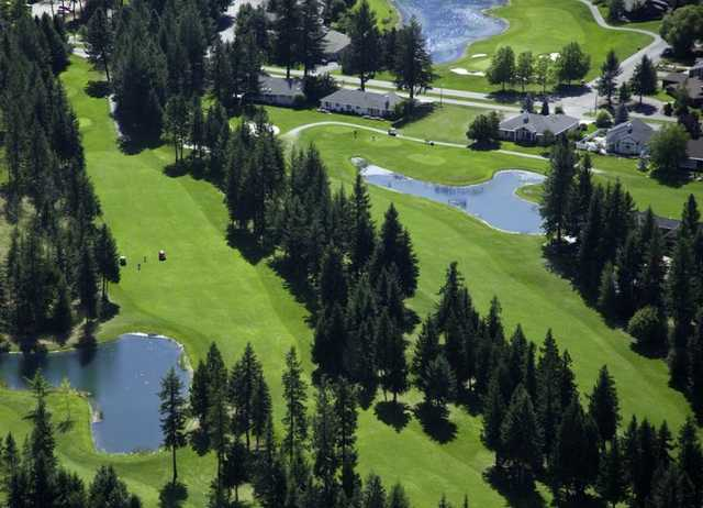 Aerial view from Twin Lakes Village Golf Course