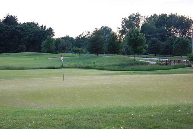 A view of hole #1 at Blue Course from Mascoutin Golf Club