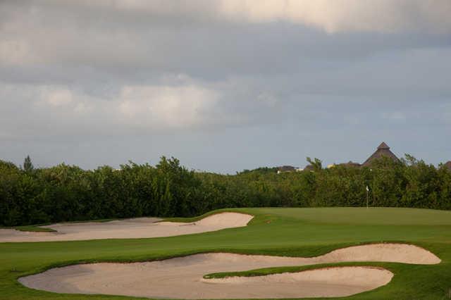 A view of hole #14 at El Camaleon Mayakoba Golf Club