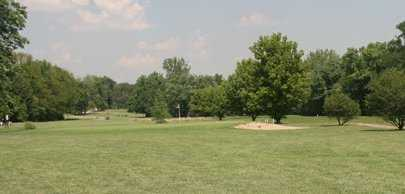 A view of a hole protected by sand trap at Cherry Valley Golf Course