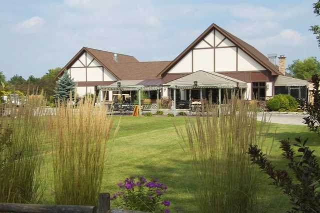 A view of the clubhouse at Stony Creek Golf Course