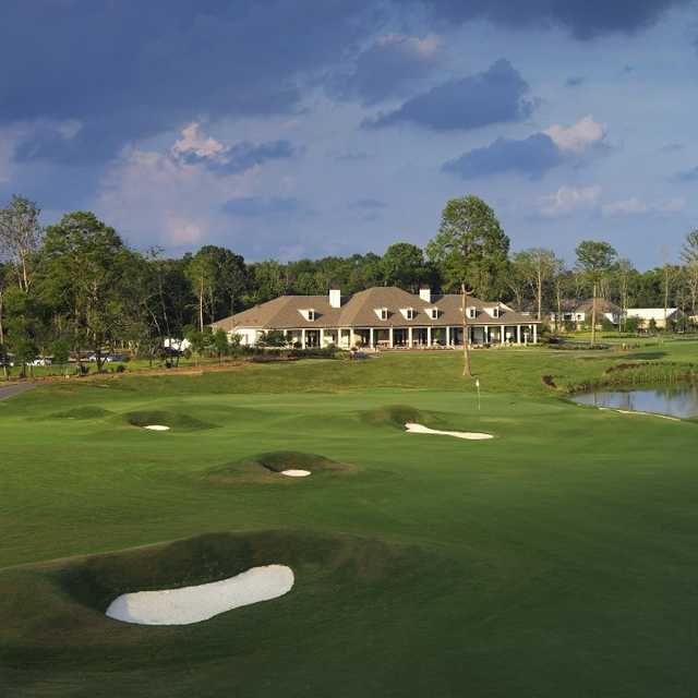 A view of the 18th hole at TPC Louisiana