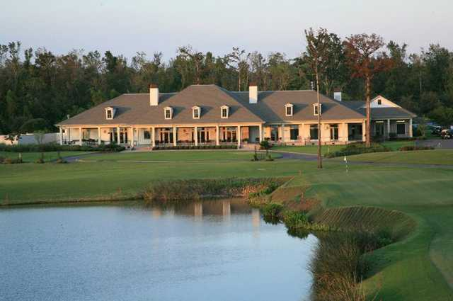 A view of the clubhouse at TPC Louisiana