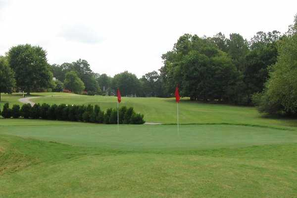 A view of the practice area at Hedingham Golf Club